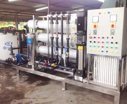 ตัวอย่างงานระบบเครื่องกรองน้ำ